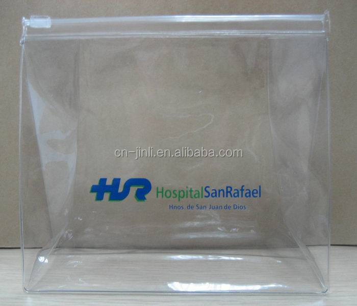 clear pvc plastic bag with zipper