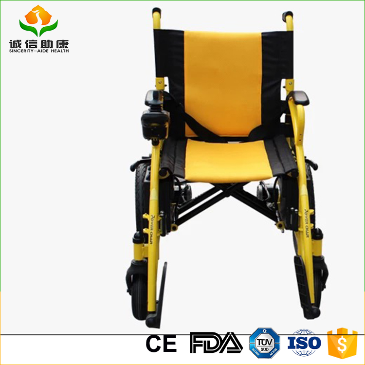 Foldable lightweight hand brake used power electric wheelchair easily control for disabled people