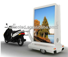 Mobile Advertising Billboard YES-M3 LED Information Display Light Box Scooter Trailer With Spearker