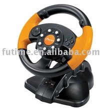 3 in 1 Steering Wheel Controller for PS2 Wired Vibration racing Wheel-- FT33C2