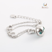 Chinese 2018 Silver bracelets with stone pendant