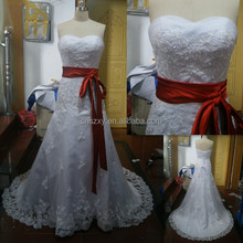 100% As Picture Shop Recommend 2014 Hot Sell Cheap Wedding Dress With Sash --- XJWD-102
