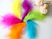 5-10cm Dyed Marabou Turkey Feather Mixed Color Full Down Turkey Feather for Decoration/Accessories