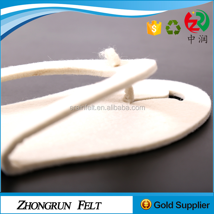 China Factory Fancy Upscale Handmade Lowest MOQ Disposable Felt Hotel Slipper On Sale