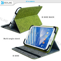 Factory Price Luxury Leather universal cloth leather tablet case for ipad mini 1/2/3, universal stand case for ipad mini 2