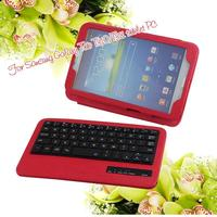 Leather Case Stand Cover 2 in 1 Bag with Built-in Bluetooth Wireless Keyboard,Removable Bluetooth ABS Keyboard for android