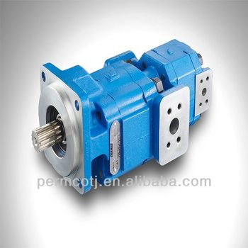 Hydraulic double gear pump for JCB backhole loader