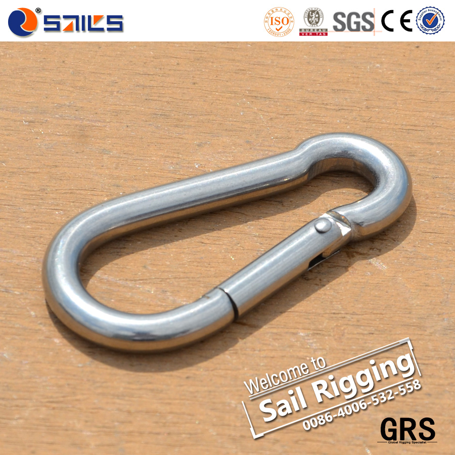 wholesale Metal Carabiner SS316 snap dog chain hook