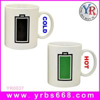 Printing your logo amazing color change mug 2014 business anniversary gifts