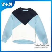 Wholesale neoprene plain crewneck couple lover sweatshirt