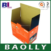 Ecofriendly E-flute Useful Folding Paper corrugated Boxes baolly