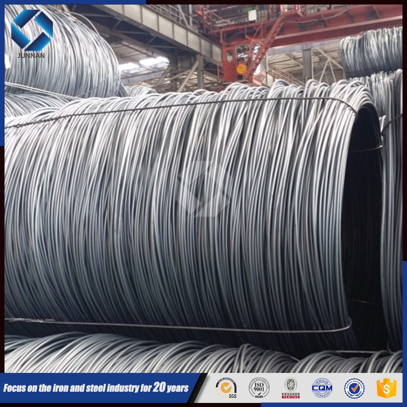 2015 China Alibaba Hot rolled sae 1006 1008 ms low carbon steel wire rod price