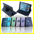 For Apple iPad Mini 1/2 360 roataing Grape pattern Leather Case ,auto sleep wake function for ipad mini 1/2