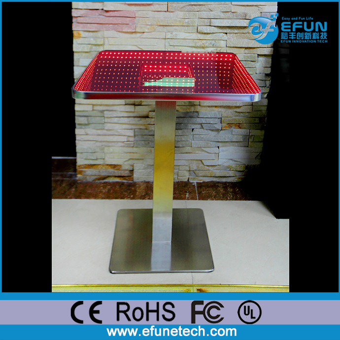 DMX/SD/WIFI/Remote control high top square illuminated color bar/nightclub led infinity table