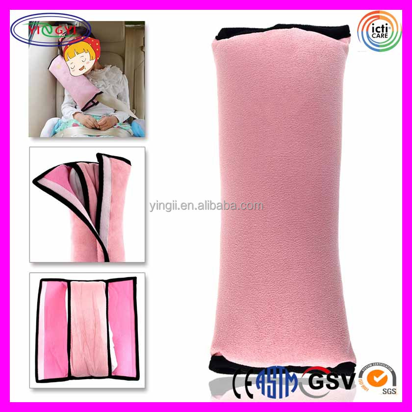E399 Cotton Velvet Car Safety Seat Belt Pillow Auto Shoulder Pad Children Auto Pillow