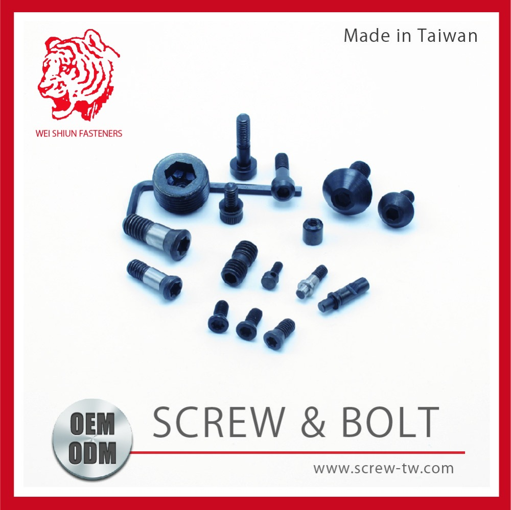 DIN Made in Taiwan High Quality Pen Head PF. Head Hexagon M3 Stainless Steel Screw and Bolt for car/door