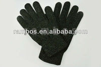 Black winter adult touch screen glove with full touch function