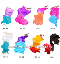 2014 Hot Belly Dance Real Silk Fan Veil ( DJ1022-2)