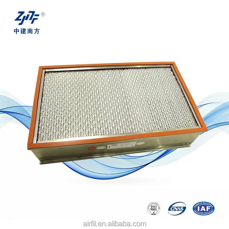 Aluminium foil air filter sheet for high temperature retardant