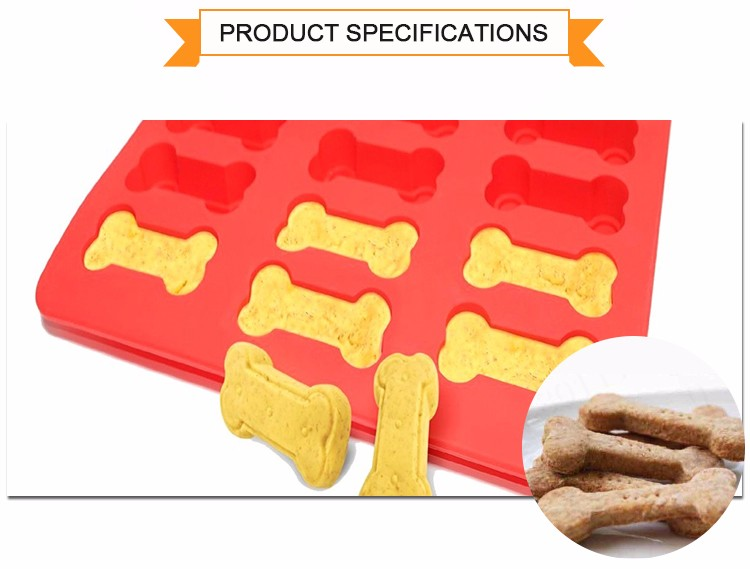 Silicone Biscuit Cookie Mold Dog Bone Pan