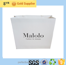 logo printed recycle gift paper laminated paper shopping bags