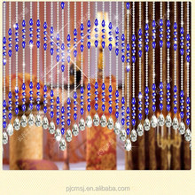 2017 Fashion crystal glass beads curtain for wedding decor hanging door house decoration