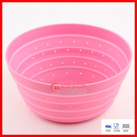 Folding collapsible silicone basket / Colander fruit bowl