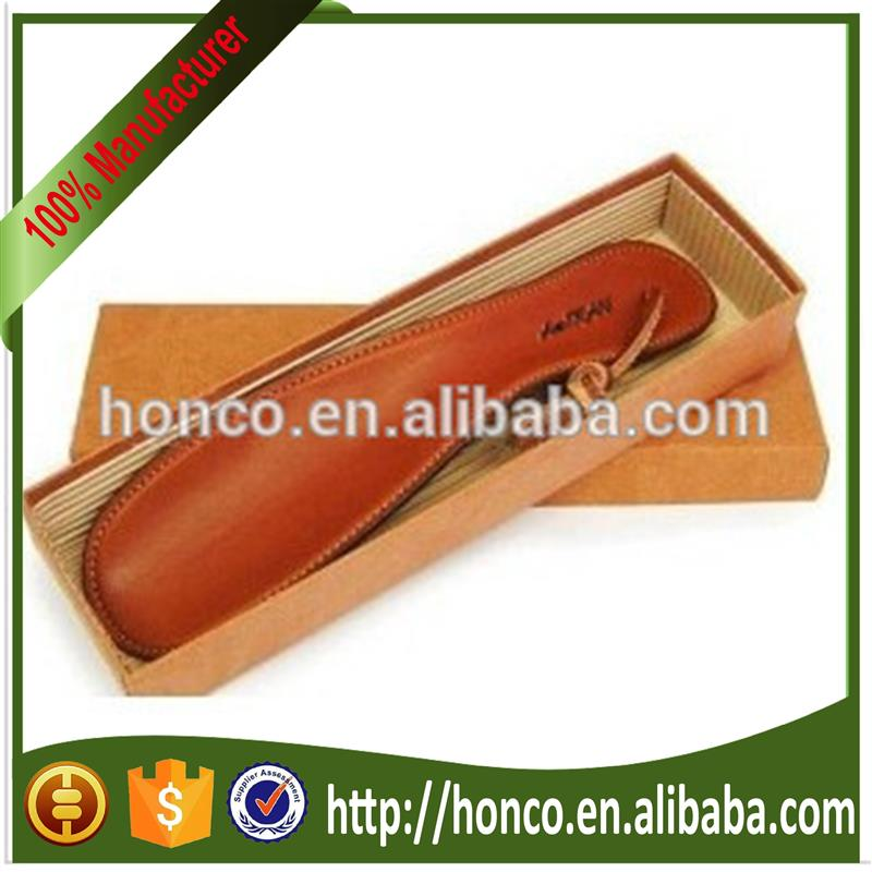leather cover shoe horn in gift box