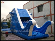 Inflatable Trampoline, inflatable jumping slide, inflatable green water waving slide