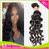 "Christmas Promotion 10""-36"" Loose Wave 1B color Virgin Peruvian Human Hair Extension"