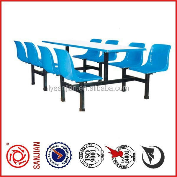 college student canteen tables and benchs school sets