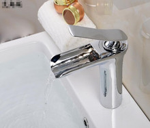 single lever chrome plated brass basin tap / new design waterfall basin taps / basin tap