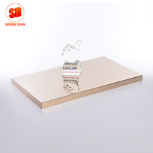 Kitchen Decoration Mirror Polishing Champagne Gold Colored 430 Stainless Steel Sheet