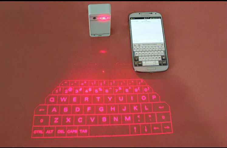 Wireless Bluetooth Virtual English Ultra Portable Mini Laser Keyboard For lenovo iphone etc.