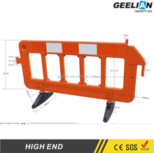 Pedestrian Barrier / Yellow Expandable Plastic Portable Fence/Temporary Event Fence