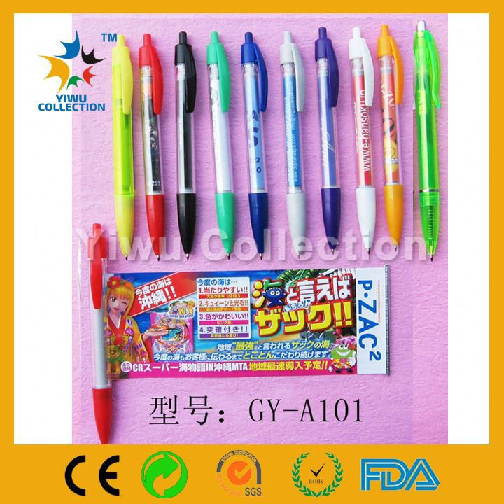 2 side ballpoint pen with highlighter,jumbo promotional pens with logo,promotion pen