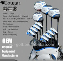 Cougar Men's Golf Clubs Sets 13 Woods with Golf Bag