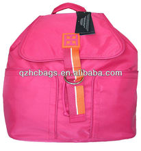 2012 new design Satin backpack school backpack/Kids Backpack with Two Compartment