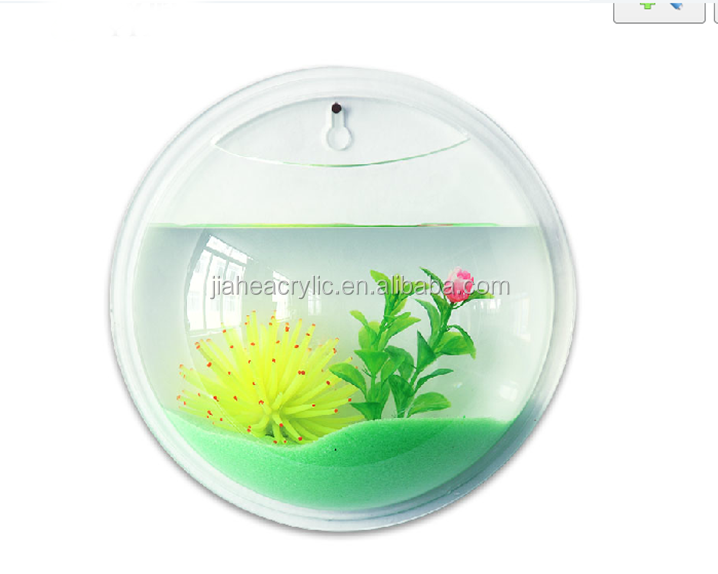 Promotional wall mounted acrylic fish aquariums wholesale for Acrylic fish bowl