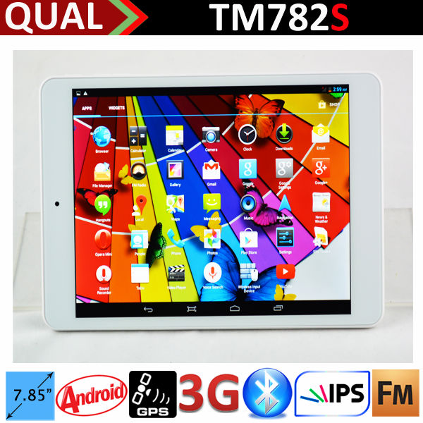 "HOT!!! 7.85"" tablet pc manufacturer with mt8382 qual core IPS WCDMA 3G phone call Bluetooth GPS FM Full Function tablet TM782S C"