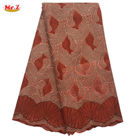 Stones African Guipure Lace Wedding Dress C1006