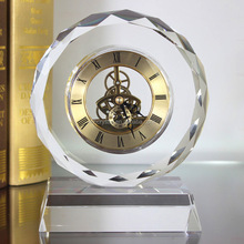 Large Crystal Round Table Clock MH-C0196