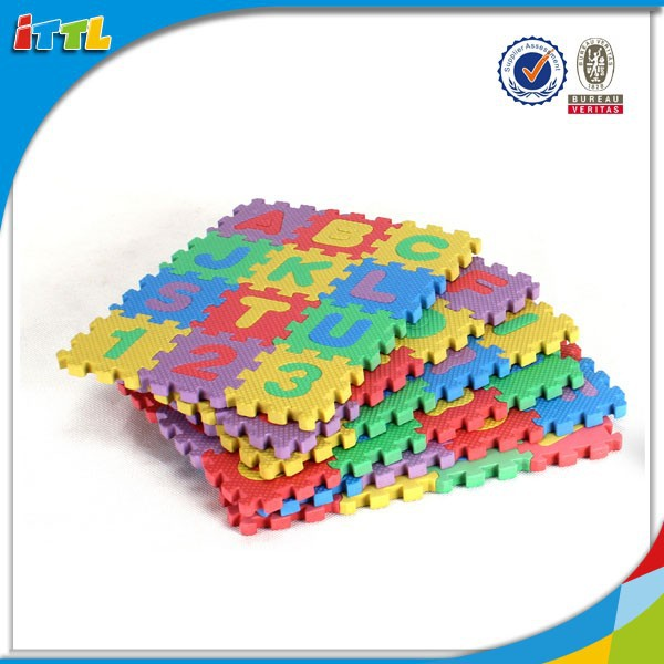 6*6 number in English letters Eva educational puzzle mats