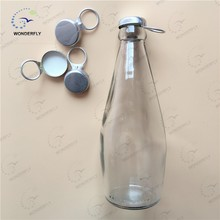 290ML clear juice ring pull caps type fresh glass bottle for sale!!