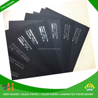 Black paper for labels