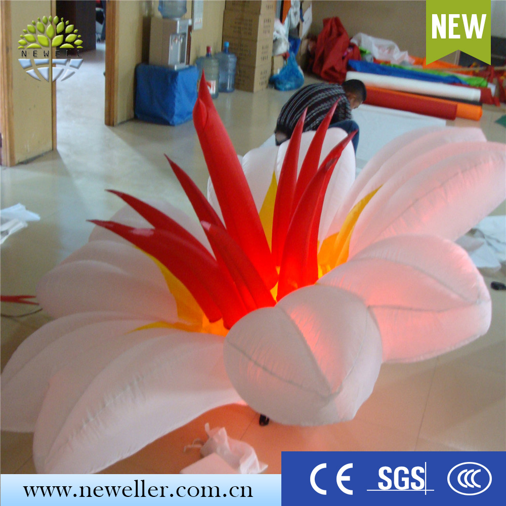 Cheap items to sell wedding attractions illuminated inflatable flower with LED light