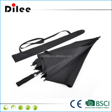 Chinese manufacturer auto windproof full fibrelgass custom promotional golf umbrella