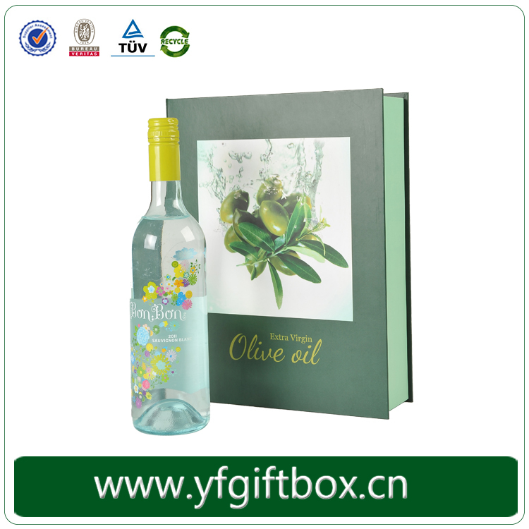 High end olive oil gift box custom high quality bottle packaging box for olive oil screen printing eco-friendly paper gift box