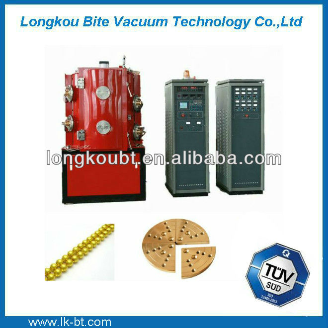 blue or rainbow titanium coating/titanium oxide color coating machine