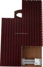 Auditorium Soundproofing Decorative Wooden Grooved Acustic Panel For Studio
